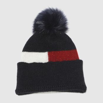 Tommy Hilfiger Navy LUXURY COLORBLOCK BEANIE Adults Hats