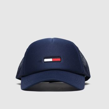 Tommy Hilfiger Navy Tjw Trucker Flag Caps and Hats