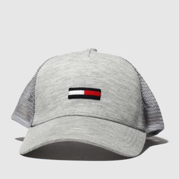 Tommy Hilfiger Grey TJ TRUCKER FLAG Caps and Hats