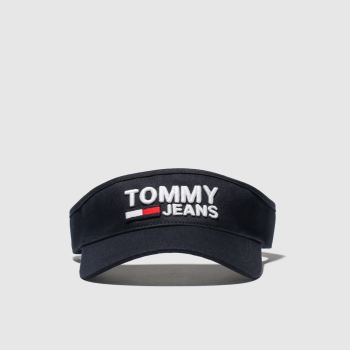 Tommy Hilfiger Black Tj Logo Visor Caps and Hats