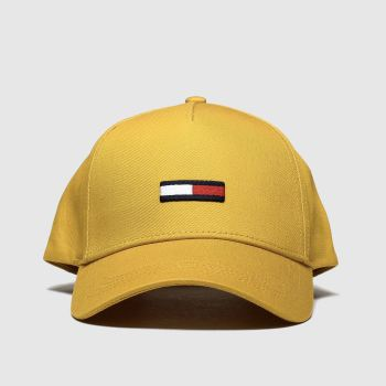 Tommy Hilfiger Yellow Tjw Flag Cap Caps and Hats