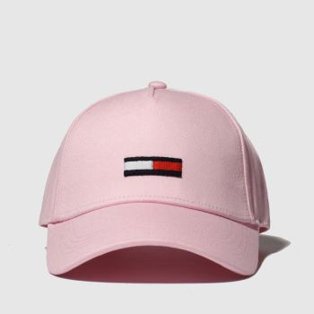 Tommy Hilfiger Pale Pink TJ FLAG CAP Caps and Hats