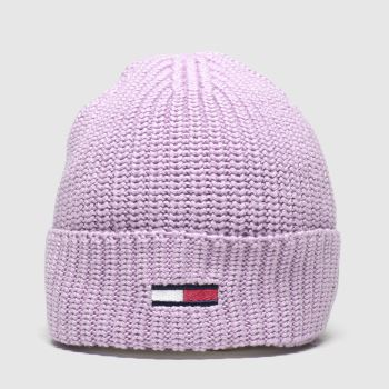 accessories tommy hilfiger pink tj basic flag rib beanie