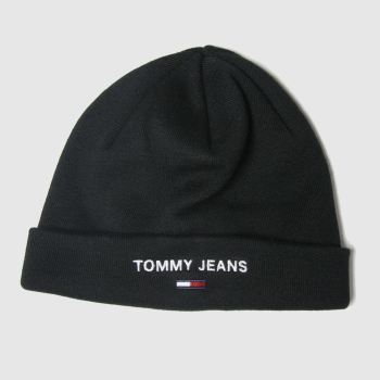 Tommy Hilfiger Black Tj Sport Beanie Adults Hats