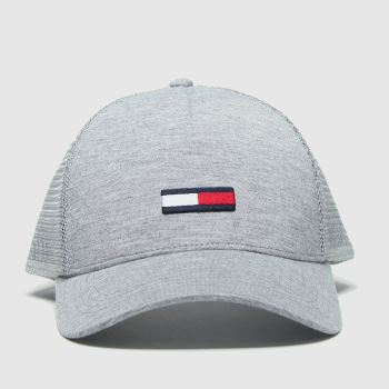 Tommy Hilfiger Light Grey Tj Trucker Flag Adults Hats