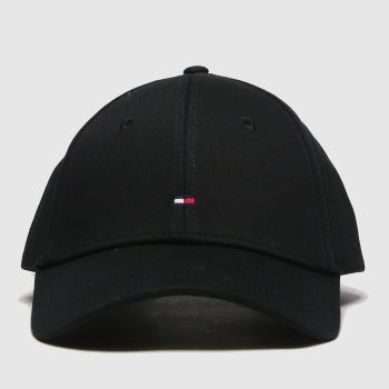 Tommy Hilfiger Black Classic Bb Small Flag Cap Adults Hats