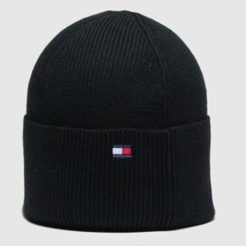 Tommy Hilfiger Black Esential Knit Beanie Adults Hats