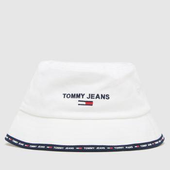Tommy Hilfiger White W Sport Bucket Adults Hats