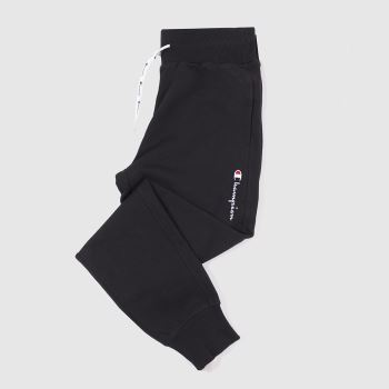 Champion Black Rib Cuff Pants Unisex