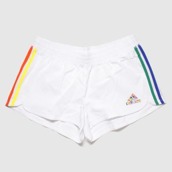 adidas White Pride Pacer Shorts Womens
