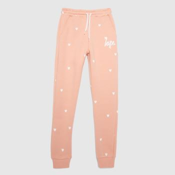 Hype Pale Pink Girls Legging Polka Heart Girls