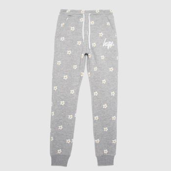 Hype Light Grey Girls Joggers Daisy Repeat Girls