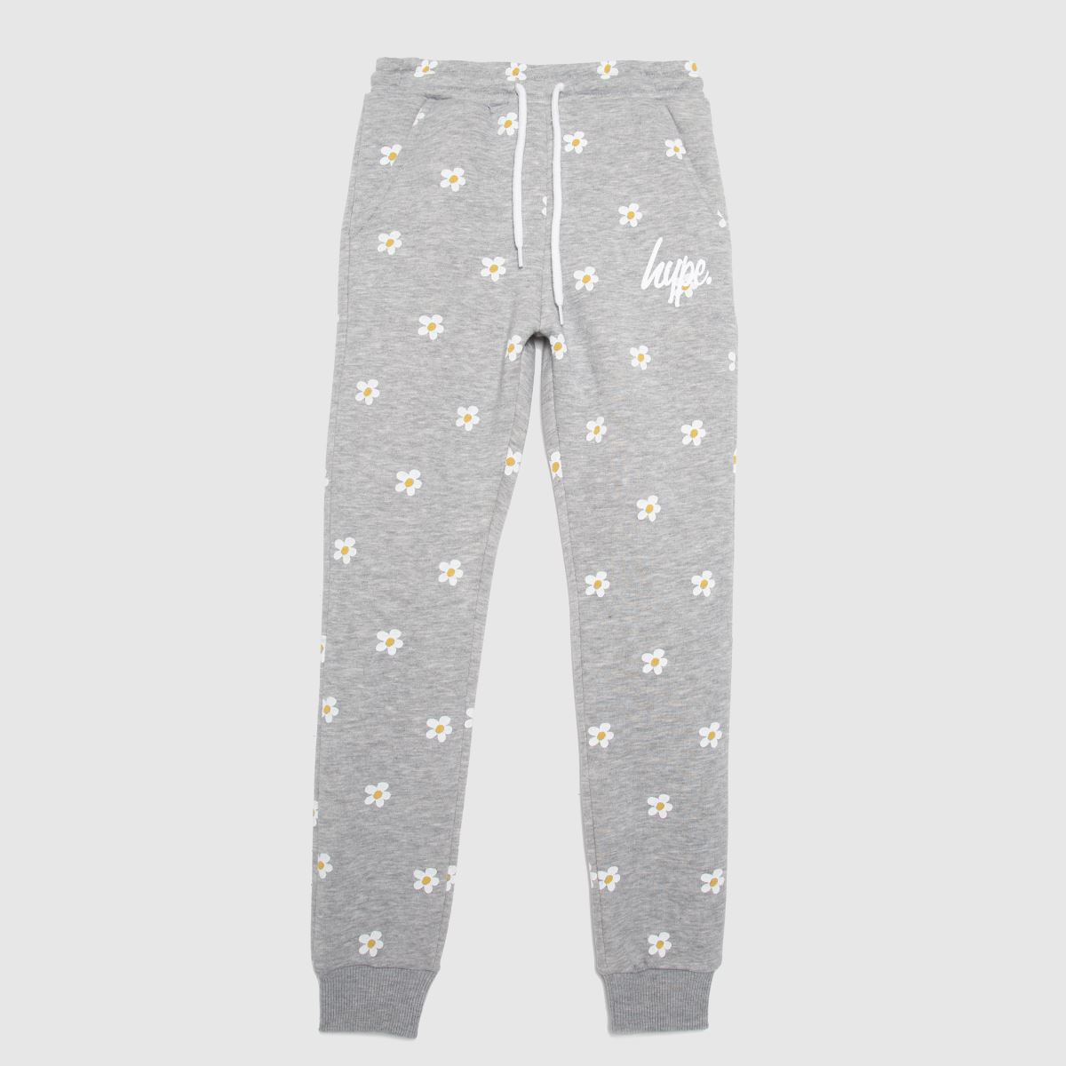 Hype Light Grey Girls Joggers Daisy Repeat
