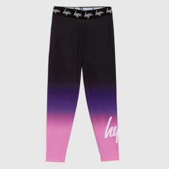 Hype Black & Purple Girls Leggings Sweetshop Fade Girls
