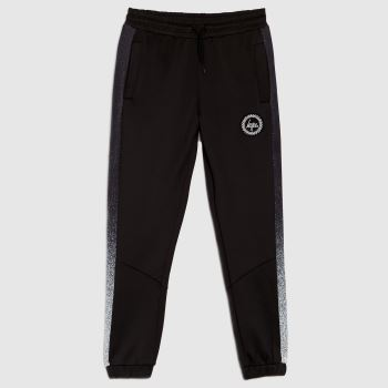 Hype Black & White Boys Joggers Speckle Fade Boys