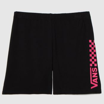 Vans Black & pink Girls Chalkboard Ii Short Girls