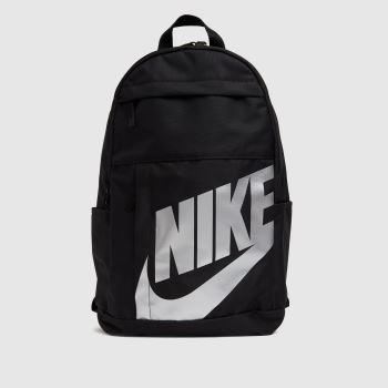 Nike Black & Silver Elemental Backpack Bags
