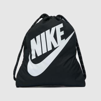 Nike Black & White Heritage Drawstring Bags