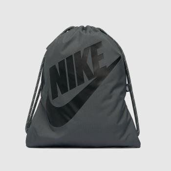Nike Grey & Black Heritage Drawstring Bag Bags