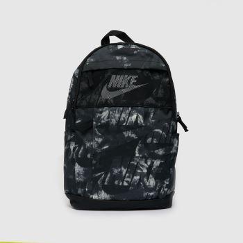 Nike Black & White Elemental Backpack Bags