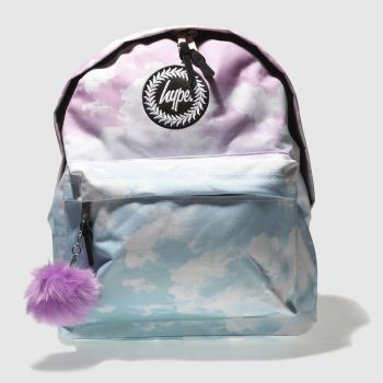 f89c3264dee1 Hype Pink   Blue Backpack Pastel Clouds Bags