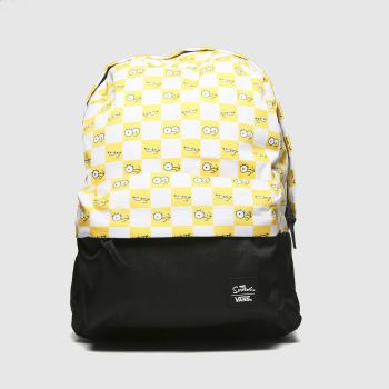 Vans White & Yellow Check Eyes The Simpsons Bags#