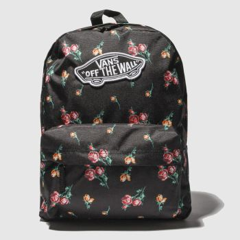 Vans Black Realm Backpack Bags c74d45ef7c9af