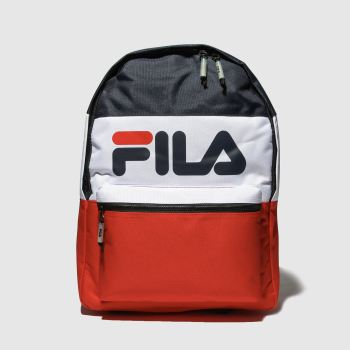 Fila White & Red Verty Bags