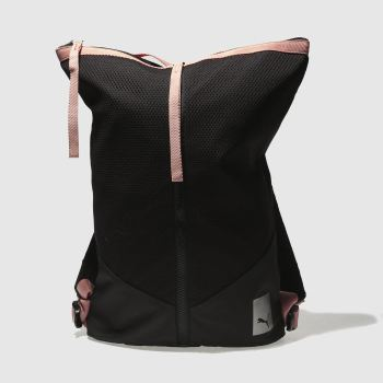 Puma Black & pink Prime Zip Backpack Ep Bags