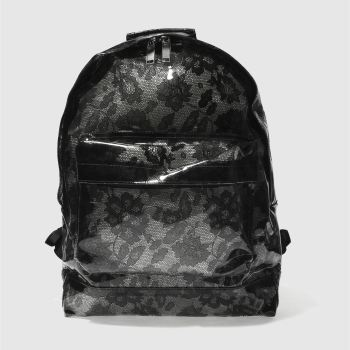 Mi Pac Black TRANSPARENT LACE Bags