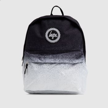 Hype Black & White Mono Speckle Fade Backpack Bags