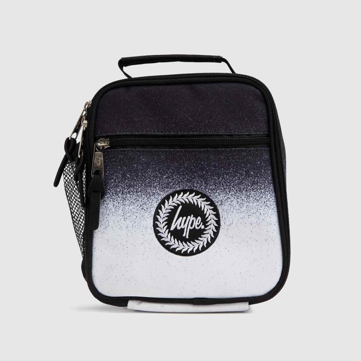 Hype Black & White Mono Speckle Lunch Bag
