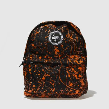 ACCESSORIES HYPE BLACK & ORANGE FLURO ORANGE BACKPACK