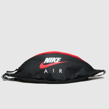 Nike Black & Red Air Heritage Waist Bags#