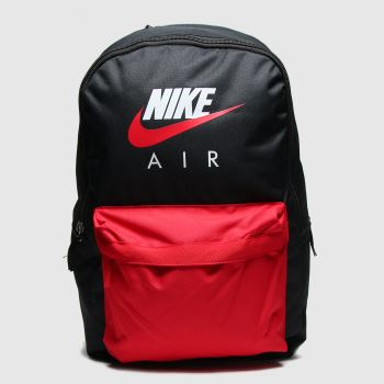 Nike Black & Red Air Heritage Backpack Bags