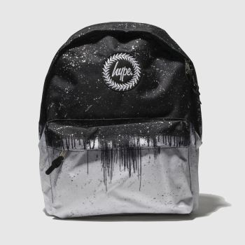 Hype Black & White DRIP REFLECTIVE SPECKLE Bags