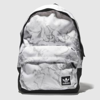 Adidas White & grey Aop Backpack Marble Bags