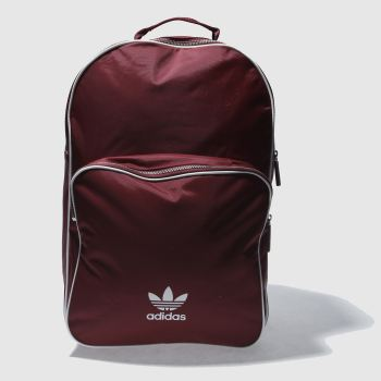 ACCESSORIES ADIDAS BURGUNDY CLASSIC BACKPACK ADICOLOR