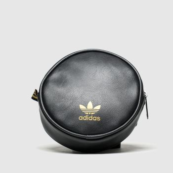 accessories adidas black & gold waistbag round