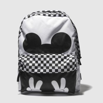 Vans White & Black MICKEY CHECKERBOARD REALM Bags