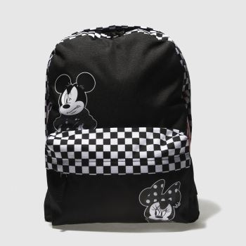 Vans Black & White Mickey Checkerboard Realm Bags