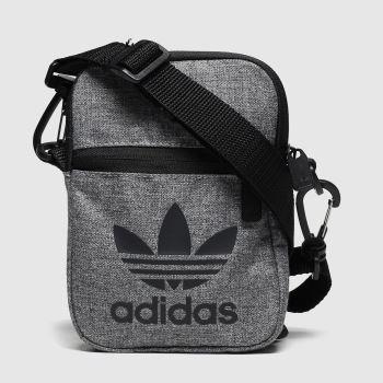 Adidas Grey & Black Mel Festival Bag Trefoil c2namevalue::Bags
