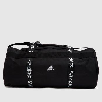 adidas Black & White Athletics Duffle Bag Bags
