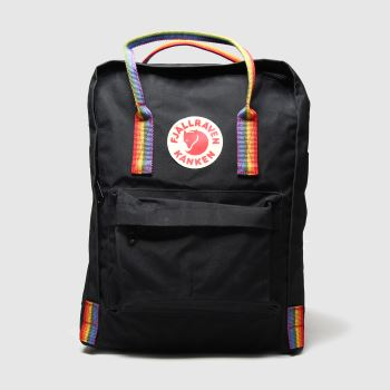 Fjallraven Black & Orange Kanken Rainbow Bags