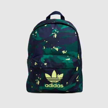 adidas Dark Green Kids Camo Cl Bags