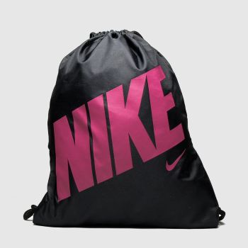 Nike Black & pink Kids Graphic Gym Sack Bags