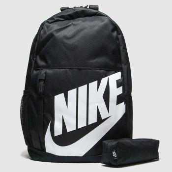 Nike Black & White Kids Elemental Bags