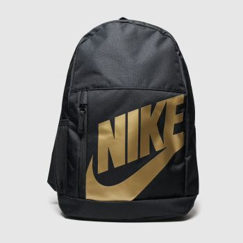 Nike Black & Gold Kids Elmntl Backpack Bags