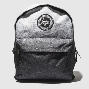 Hype Black & White Backpack Mono Speckle Bags