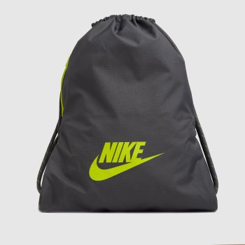 Nike Grey & Lime Heritage 2.0 Gymsack Bags